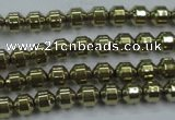 CHE974 15.5 inches 4*4mm plated hematite beads wholesale