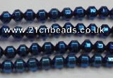 CHE977 15.5 inches 4*4mm plated hematite beads wholesale