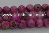 CHM221 15.5 inches 6mm round dyed hemimorphite beads wholesale
