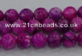 CHM229 15.5 inches 6mm round dyed hemimorphite beads wholesale
