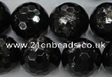 CHS51 15.5 inches 20mm faceted round natural hypersthene beads