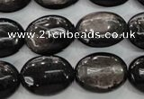 CHS74 15.5 inches 15*20mm oval natural hypersthene beads