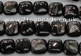 CHS80 15.5 inches 10*10mm square natural hypersthene beads