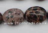 CIJ123 15.5 inches 13*18mm oval dyed impression jasper beads wholesale