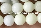CIJ201 15.5 inches 6mm round ivory jade beads wholesale
