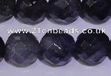 CIL33 15.5 inches 9mm faceted round natural iolite gemstone beads