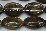 CJA21 15.5 inches 18*25mm oval green jasper beads wholesale