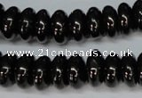 CJB49 15.5 inches 7*14mm rondelle natural jet gemstone beads