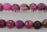 CJJ24 15.5 inches 10mm faceted round dyed lucky jade beads