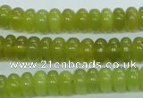 CKA104 15.5 inches 5*10mm rondelle Korean jade gemstone beads