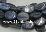 CKC08 16 inches 8*10mm flat oval natural kyanite beads wholesale