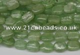 CKC259 15.5 inches 6*8mm rectangle natural green kyanite beads