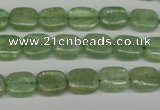 CKC260 15.5 inches 8*10mm rectangle natural green kyanite beads