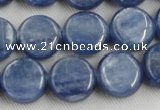 CKC511 15.5 inches 8mm flat round natural Brazilian kyanite beads