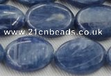 CKC536 15.5 inches 13*18mm oval natural Brazilian kyanite beads