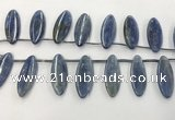 CKC552 Top drilled 10*25mm marquise natural kyanite beads
