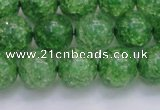 CKQ340 15.5 inches 14mm round dyed crackle quartz beads wholesale