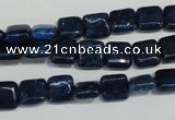 CKU115 15.5 inches 8*8mm square dyed kunzite beads wholesale