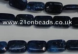 CKU122 15.5 inches 8*12mm rectangle dyed kunzite beads wholesale