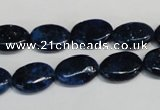 CKU131 15.5 inches 10*14mm oval dyed kunzite beads wholesale
