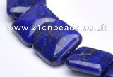CLA01 15.5 inch 18*18mm square deep blue dyed lapis lazuli beads