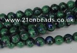 CLA479 15.5 inches 6mm round synthetic lapis lazuli beads