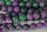 CLA490 15.5 inches 8mm round synthetic lapis lazuli beads