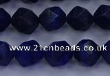 CLA83 15.5 inches 10mm faceted nuggets dyed lapis lazuli beads