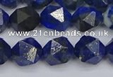 CLA87 15.5 inches 8mm faceted nuggets dyed lapis lazuli beads