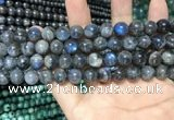 CLB1011 15.5 inches 8mm round labradorite beads wholesale