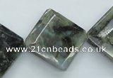 CLB127 15.5 inches 25*25mm faceted diamond labradorite gemstone beads
