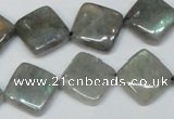 CLB155 15.5 inches 14*14mm diamond labradorite gemstone beads