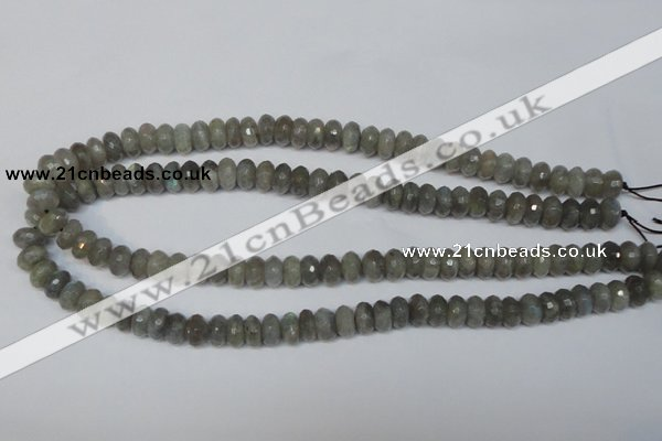 CLB179 15.5 inches 5*8mm faceted rondelle labradorite beads