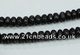 CLB300 15.5 inches 3*6mm rondelle black labradorite gemstone beads
