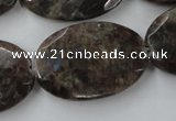 CLB416 15.5 inches 20*30mm faceted oval grey labradorite beads