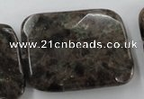 CLB428 15.5 inches 30*40mm faceted rectangle grey labradorite beads