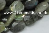 CLB43 15.5 inches 14*18mm faceted oval labradorite gemstone beads