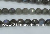 CLB512 15.5 inches 8mm faceted round labradorite gemstone beads