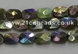 CLB694 15.5 inches 6*8mm faceted rectangle AB-color labradorite beads