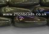 CLB782 15.5 inches 10*40mm teardrop AB-color labradorite beads