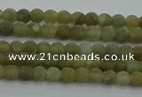 CLB870 15.5 inches 3mm round matte labradorite gemstone beads