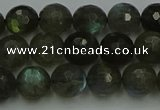 CLB902 15.5 inches 8mm faceted round labradorite gemstone beads
