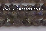 CLB973 15.5 inches 10mm faceted nuggets labradorite gemstone beads