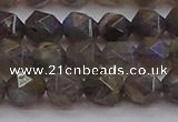 CLB974 15.5 inches 12mm faceted nuggets labradorite gemstone beads