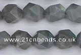 CLB983 15.5 inches 10mm faceted nuggets labradorite beads wholesale