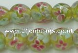 CLG756 15.5 inches 10mm round lampwork glass beads wholesale
