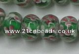 CLG769 14.5 inches 8*12mm rondelle lampwork glass beads wholesale
