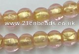 CLG834 15.5 inches 8mm round lampwork glass beads wholesale