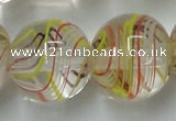 CLG856 15.5 inches 18mm round lampwork glass beads wholesale