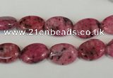 CLJ319 15.5 inches 10*14mm oval dyed sesame jasper beads wholesale